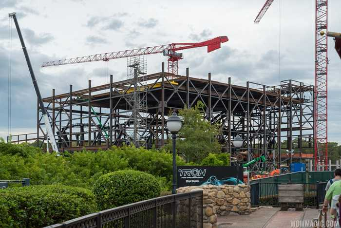 TRON Lightcycle Run construction site - October 2019