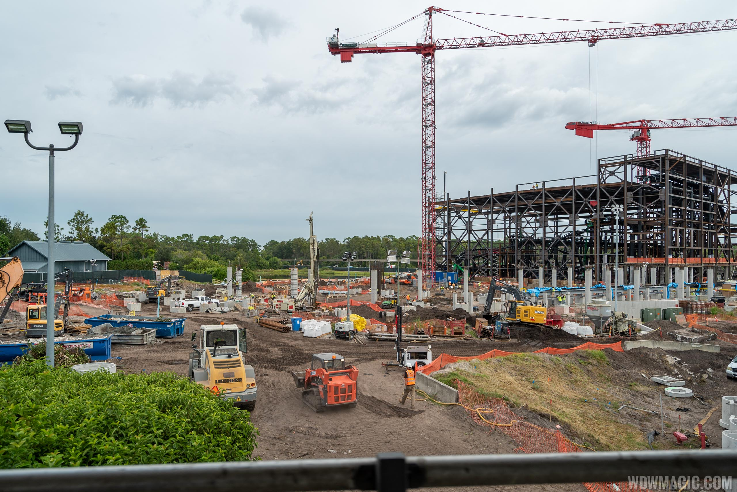 TRON Lightcycle Run construction site - October 2019
