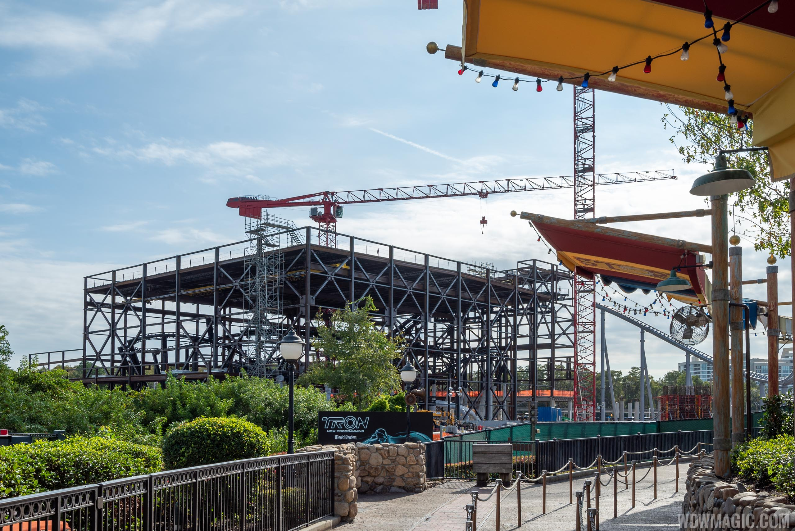 TRON Lightcycle Run construction site - November 2019