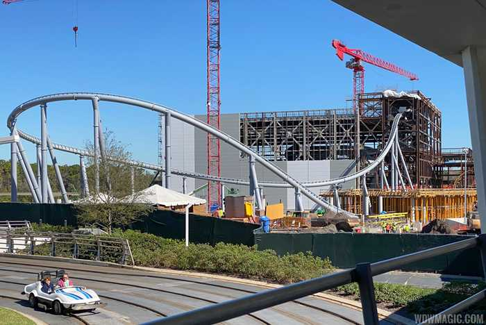 TRON Lightcycle Run construction site - January 2020