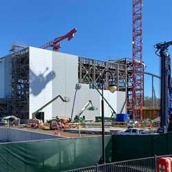TRON Lightcycle Run construction site - January 2020