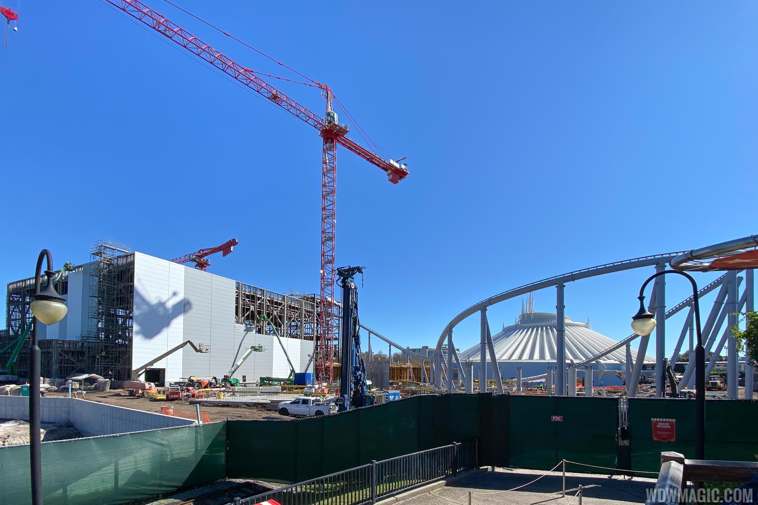 PHOTOS - Tron Lightcycle Run coaster construction at Magic Kingdom