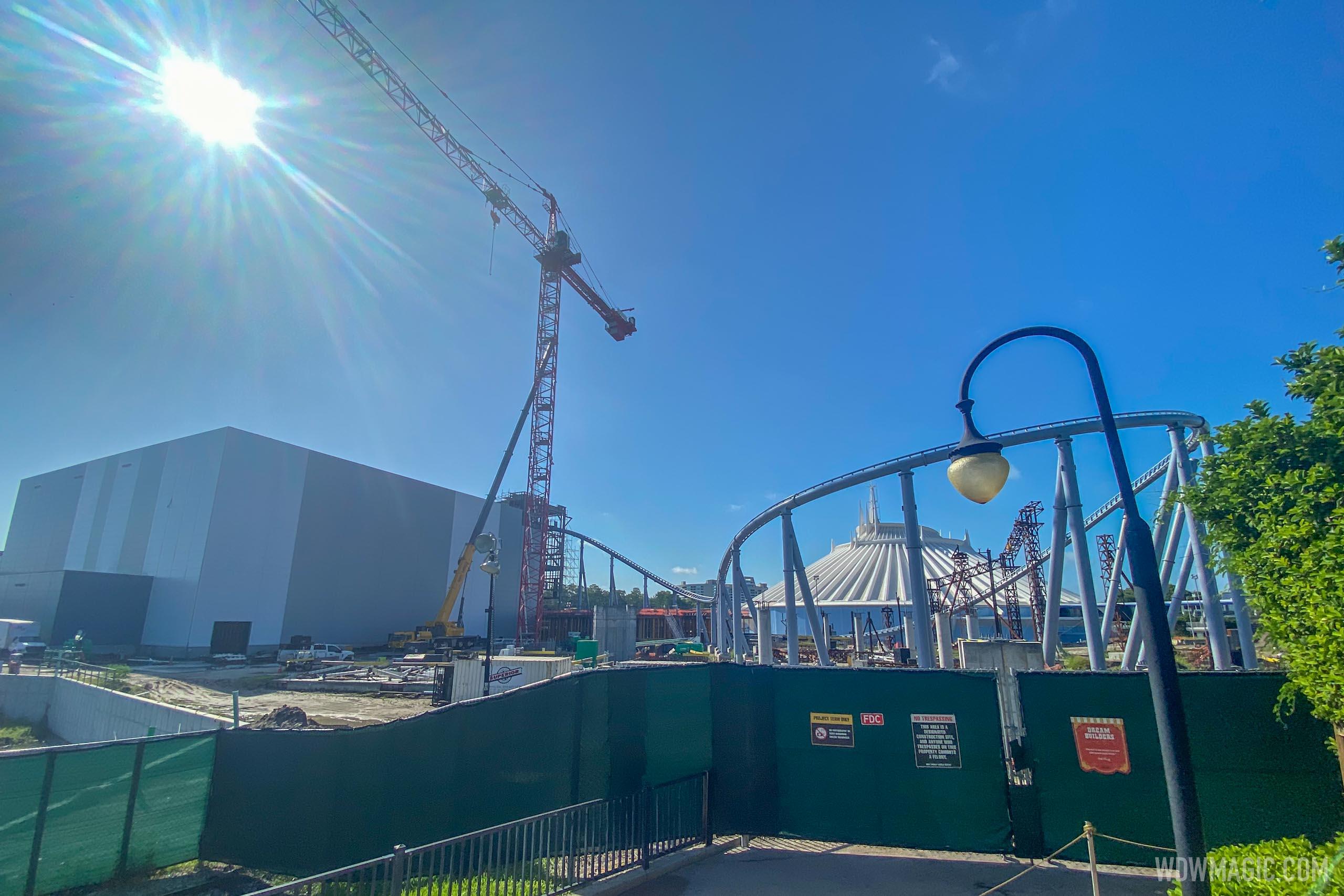 TRON Lightcycle Run construction - July 7 2020