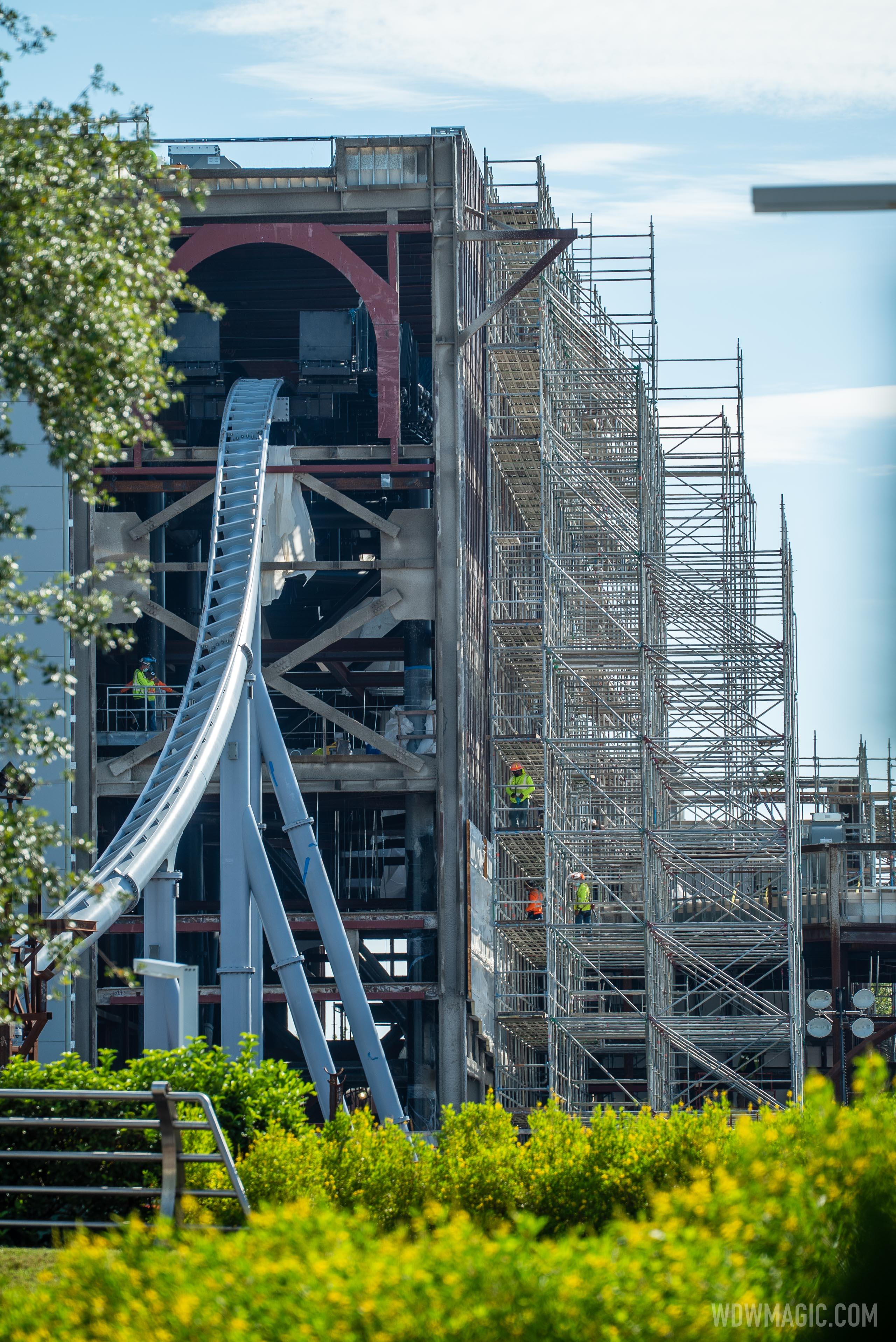 TRON Lightcycle Run construction - August 18 2020