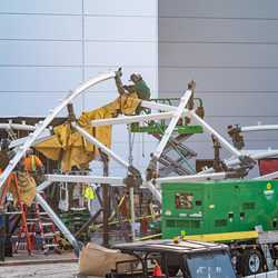 TRON Lightcycle Run construction - September 3 2020