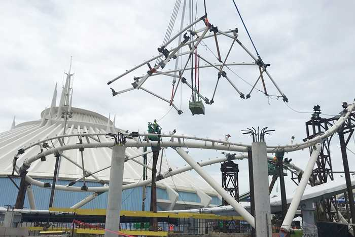 TRON Lightcyle Run canopy installation