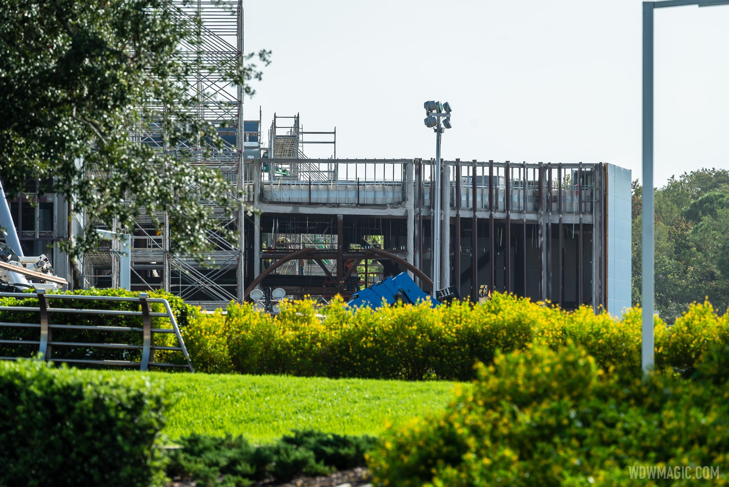 TRON Lightcycle Run construction - September 21 2020