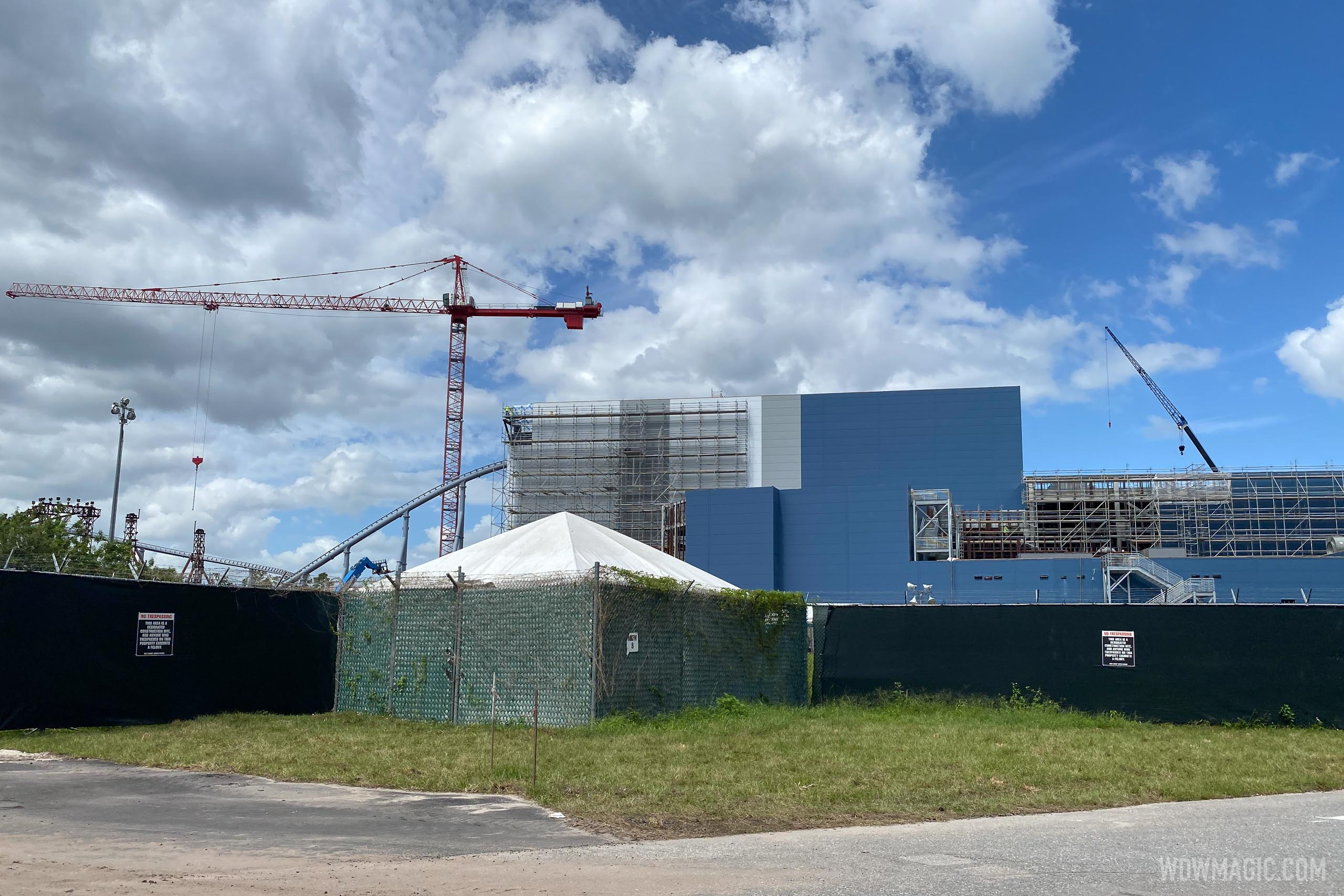 View of the ride building for TRON