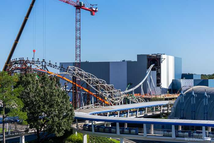 TRON Lightcycle Run construction - November 2 2020