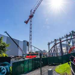 TRON Lightcycle Run construction - November 2 2020