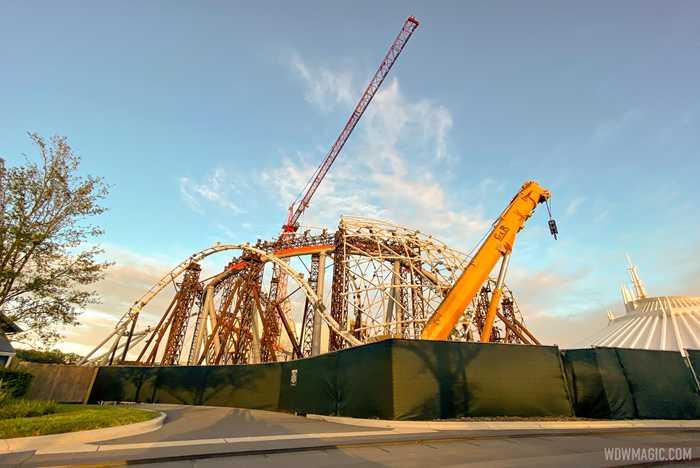 TRON Lightcycle Run construction - November 19 2020