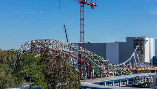 PHOTOS - TRON Lightcycle Run coaster construction at the Magic Kingdom