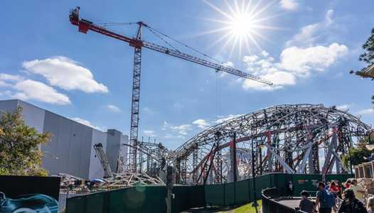 PHOTOS - TRON Lightcycle Run construction at Magic Kingdom