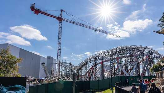 PHOTOS - TRON Lightcycle Run construction at Magic Kingdom