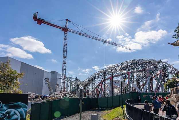 TRON Lightcycle Run construction - January 25 2021