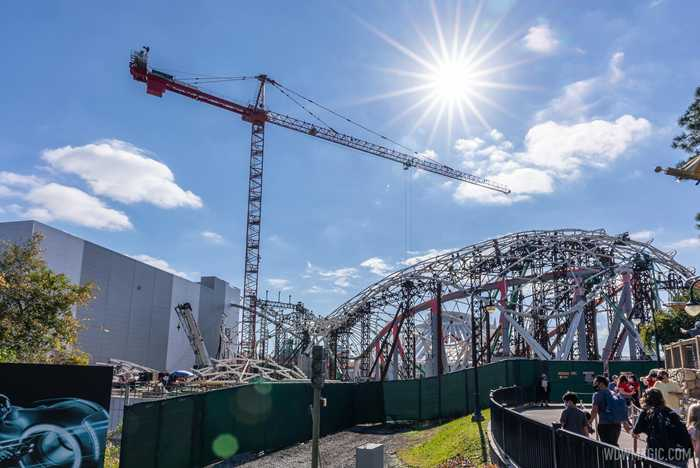 TRON Lightcycle Run construction - January 25 2021