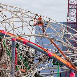 TRON Lightcycle Run construction - March 8 2021