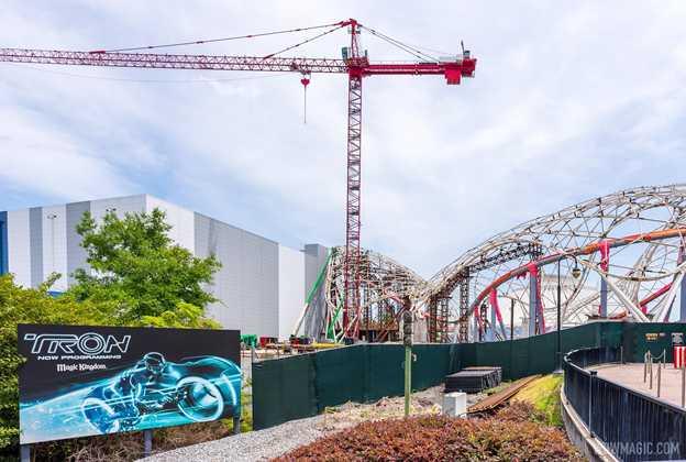 TRON Lightcycle Run construction - April 16 2021