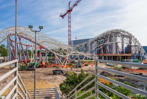 TRON Lightcycle Run construction - May 3 2021