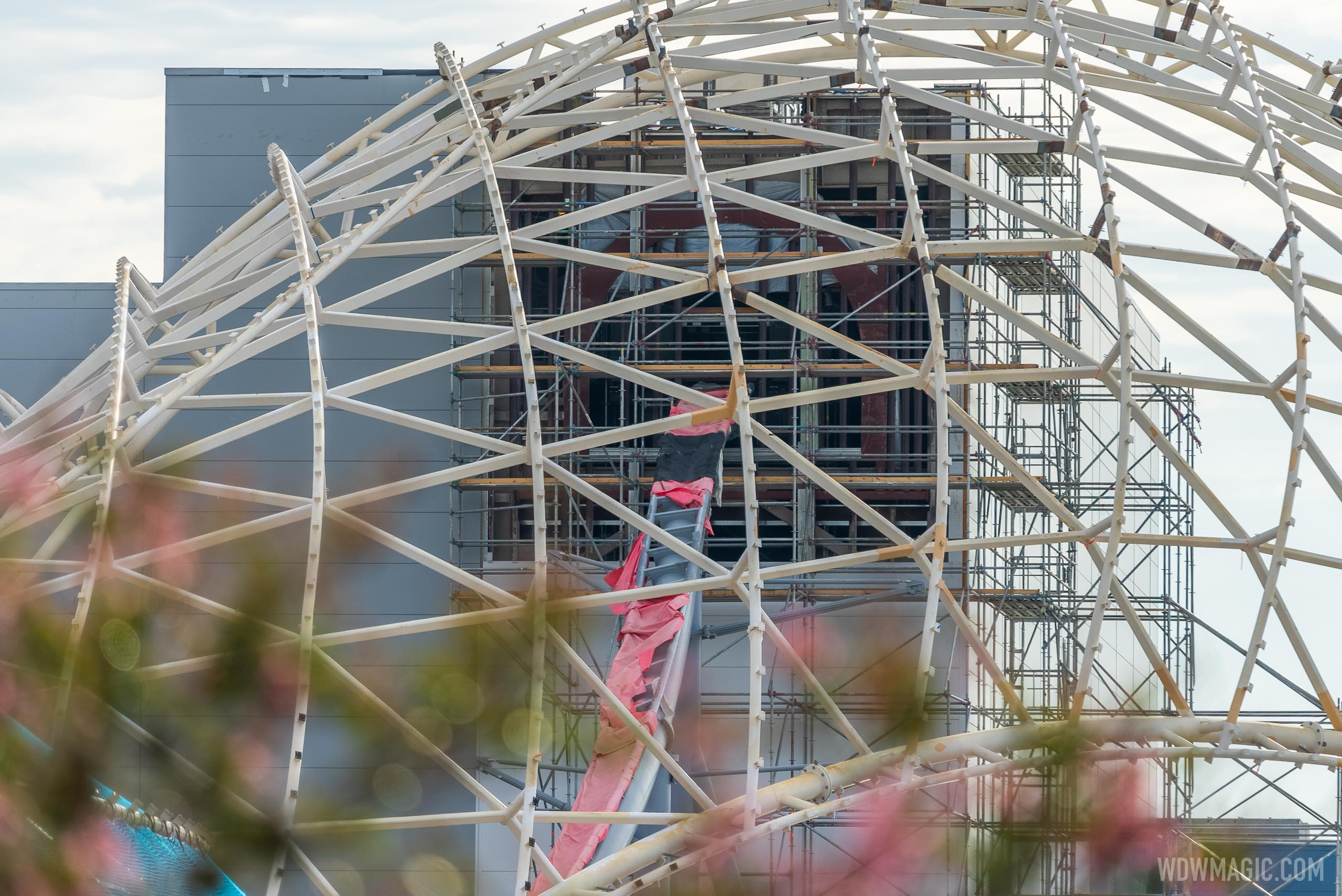 TRON Lightcycle Run construction at Walt Disney World