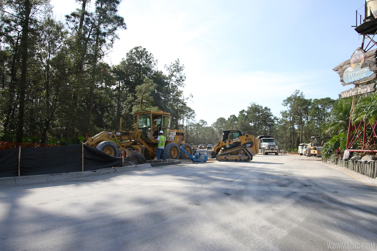 Typhoon Lagoon main entrance road expansion