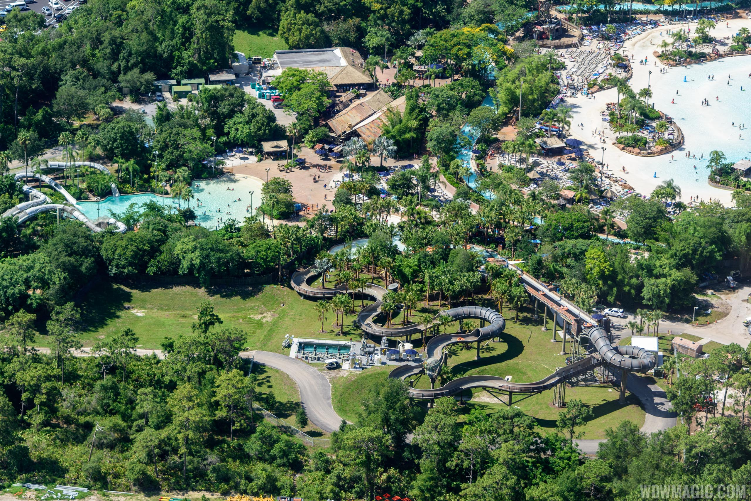 Aerial view of Typhoon Lagoon