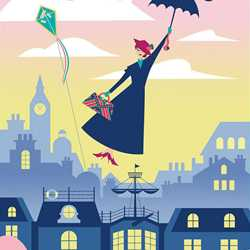 Mary Poppins attraction poster and concept art