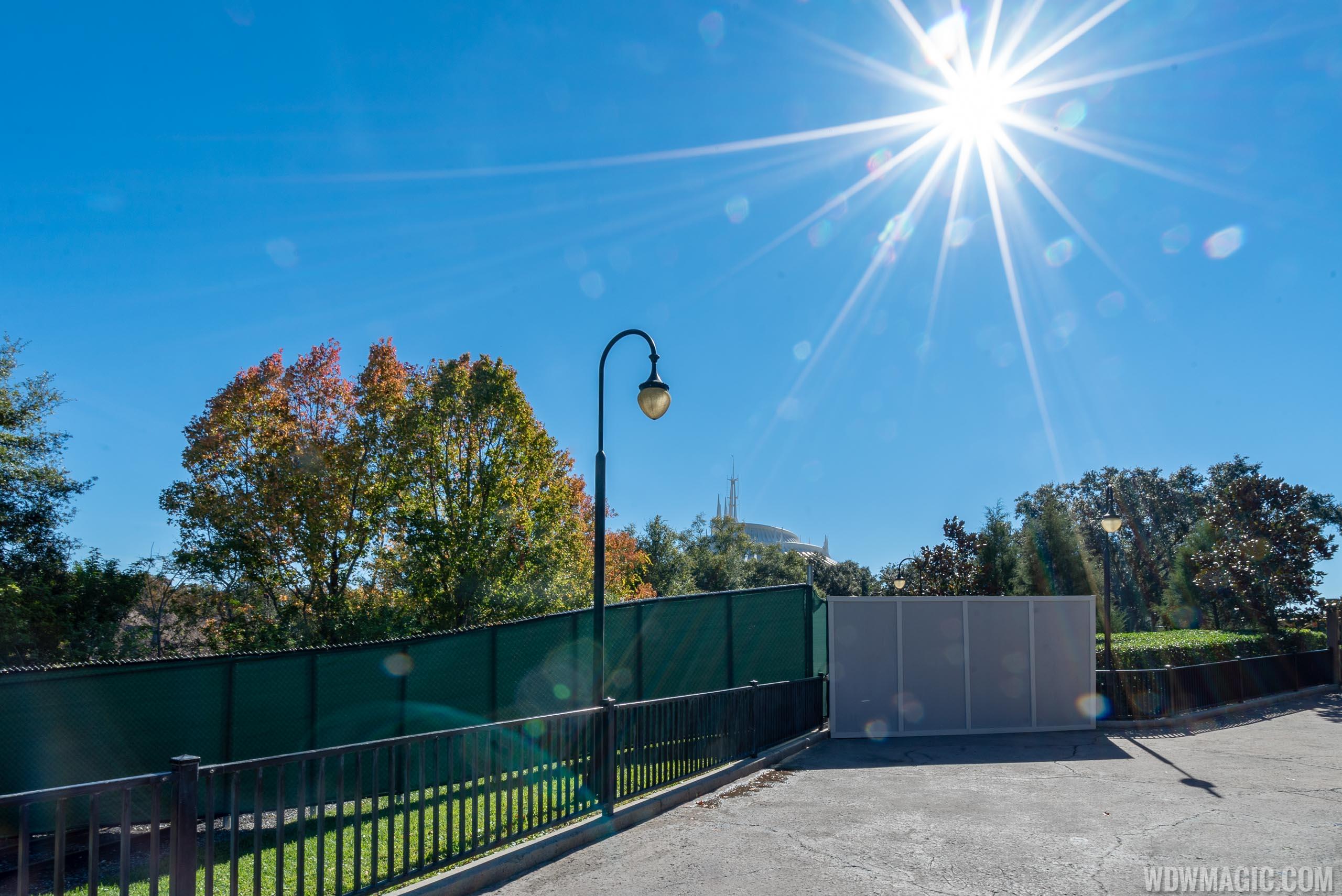 Walkway between Fantasyland and Tomorrowland closed