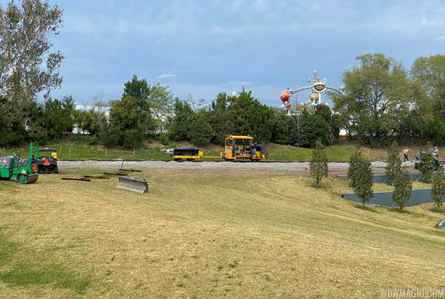 Laying replacement track at the Walt Disney World Railway