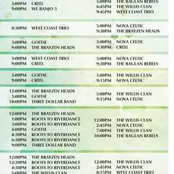 Mighty St. Patrick's Festival times guide