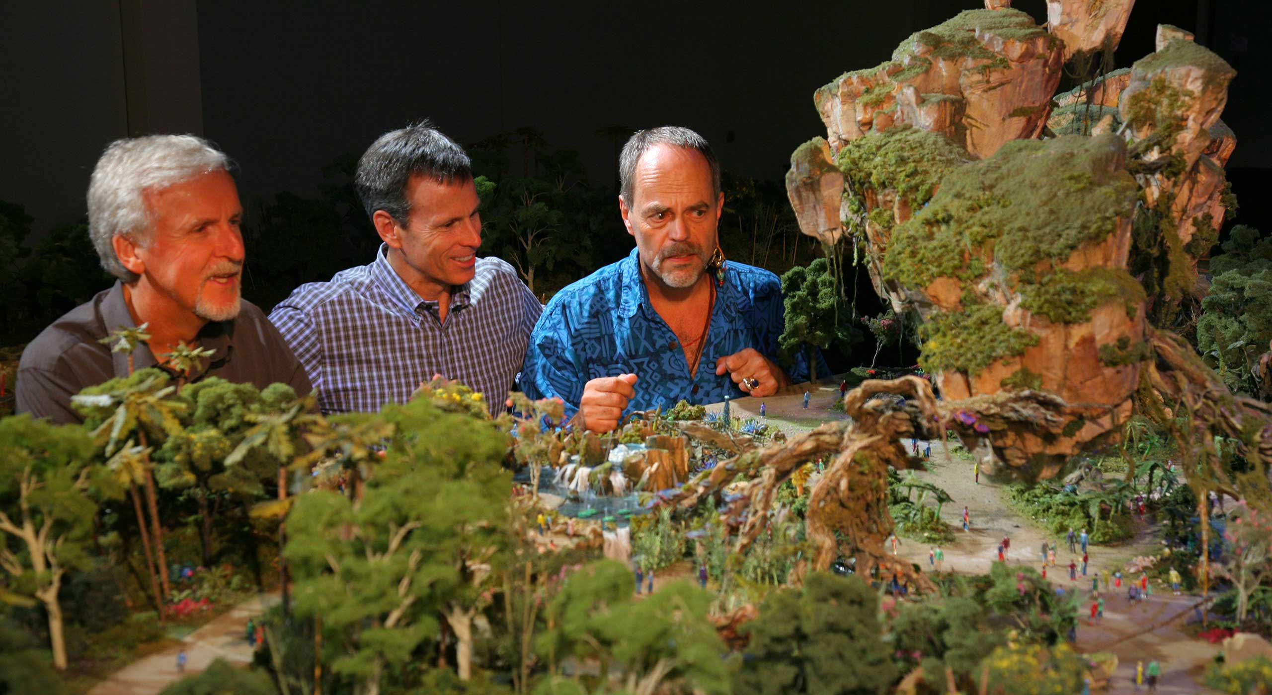James Cameron and Joe Rohde with the AVATAR Land Model