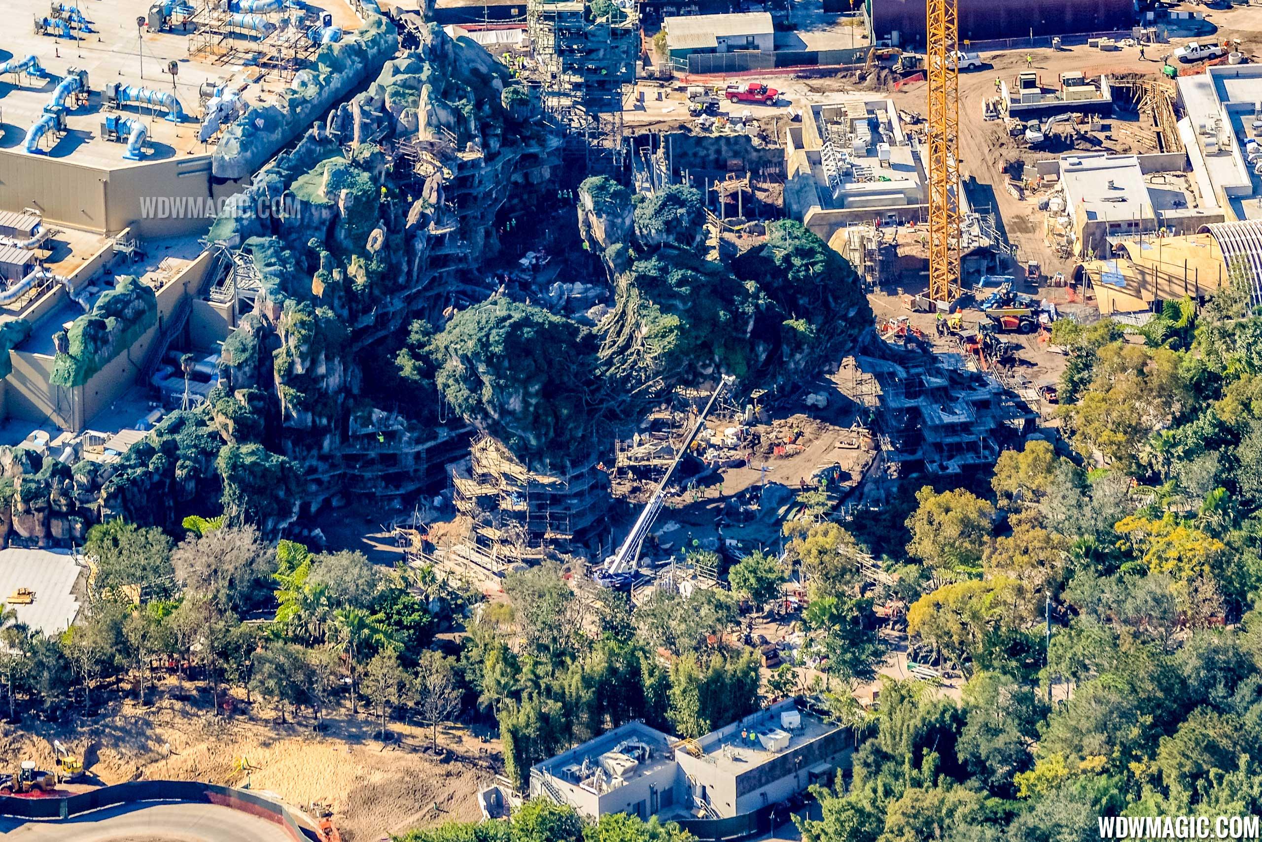 Photo by CJ Berzin @BerzinPhotography. 'Pandora - The World of Avatar' aerial view.