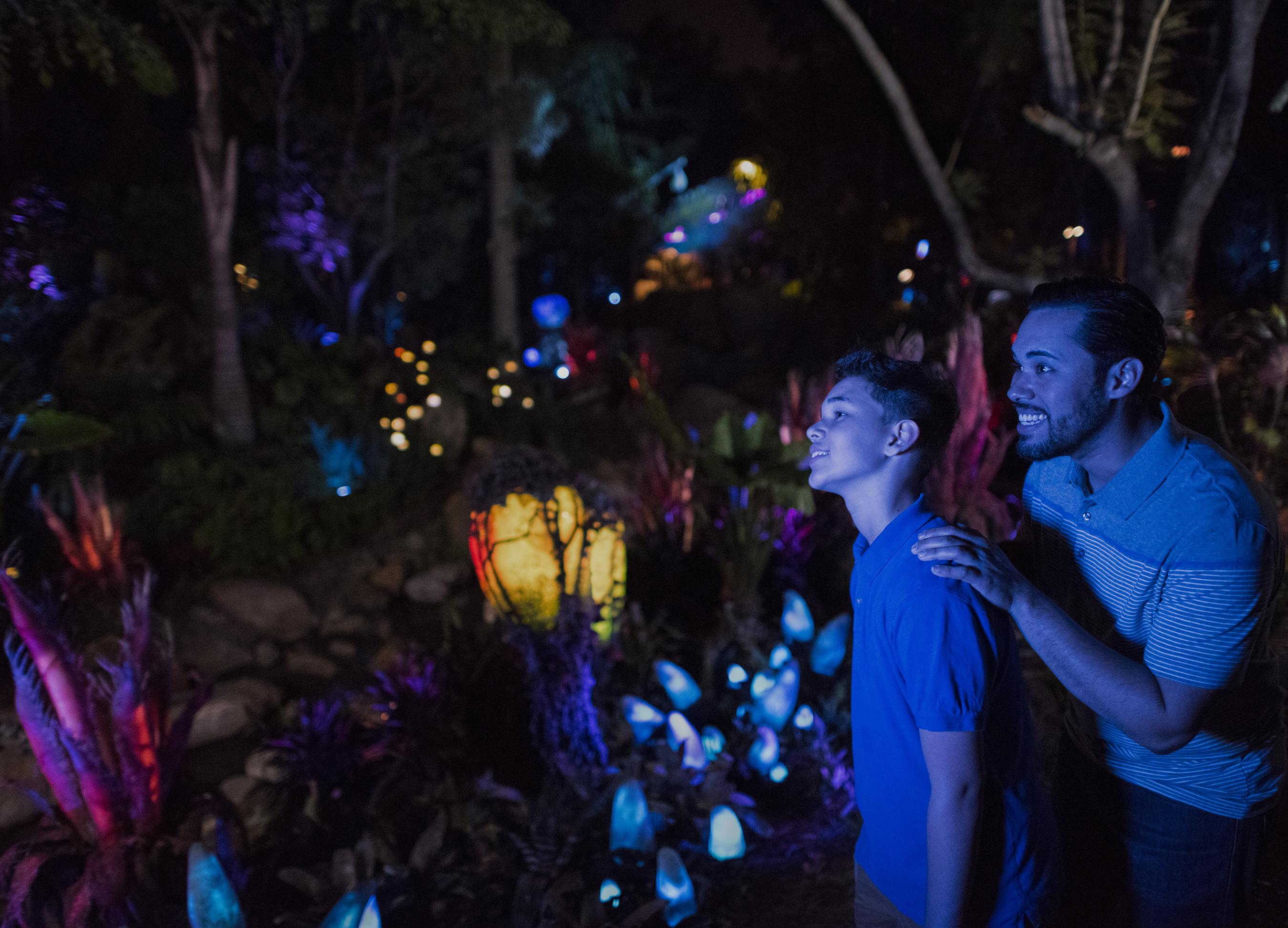 Bioluminescent flora in Pandora