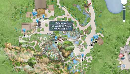 PHOTO - Disney's online Walt Disney World maps updated to include Pandora - The World of Avatar