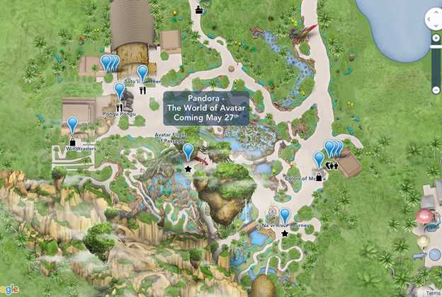 Pandora - The World of Avatar map