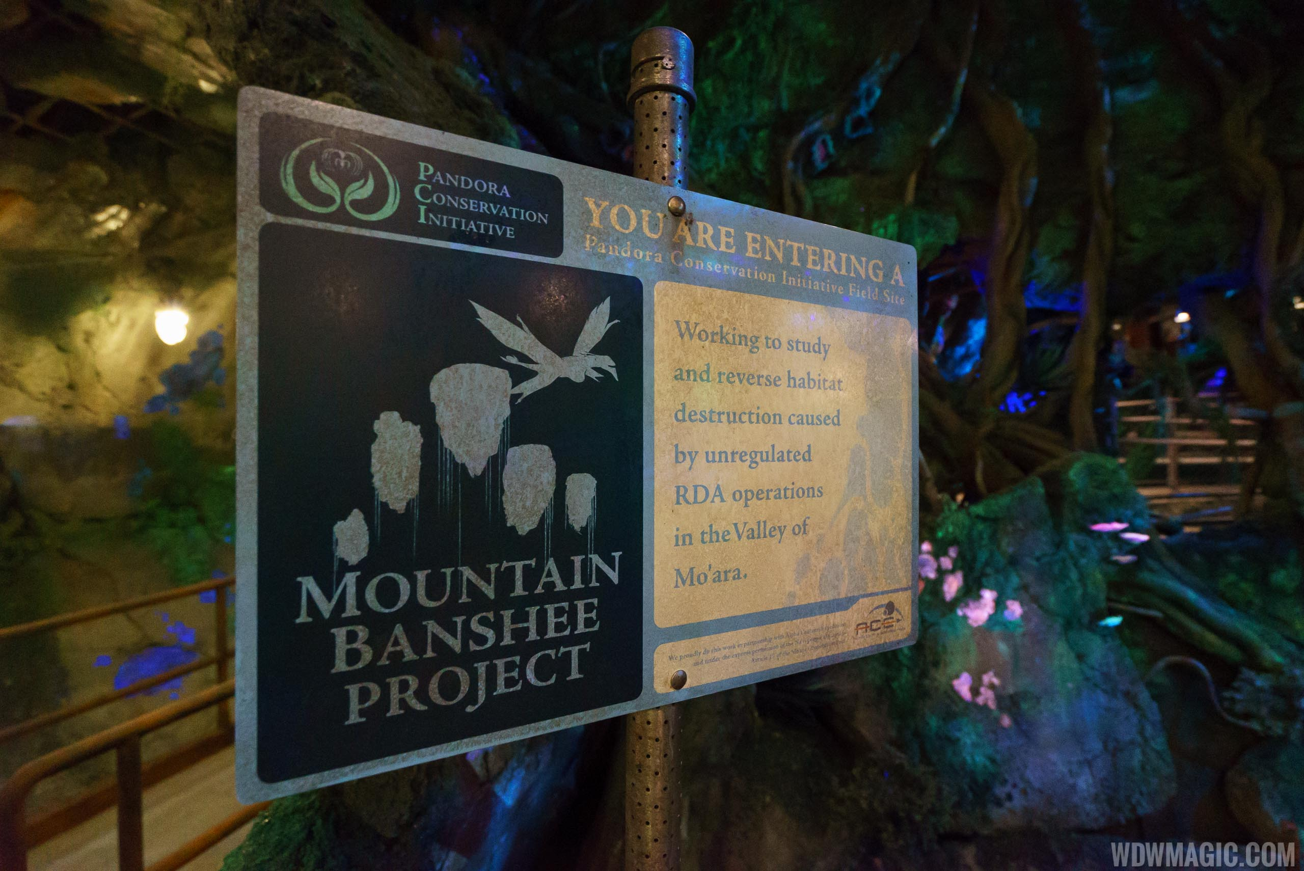 Pandora Conservation Initiative in the queue of Avatar Flight of Passage