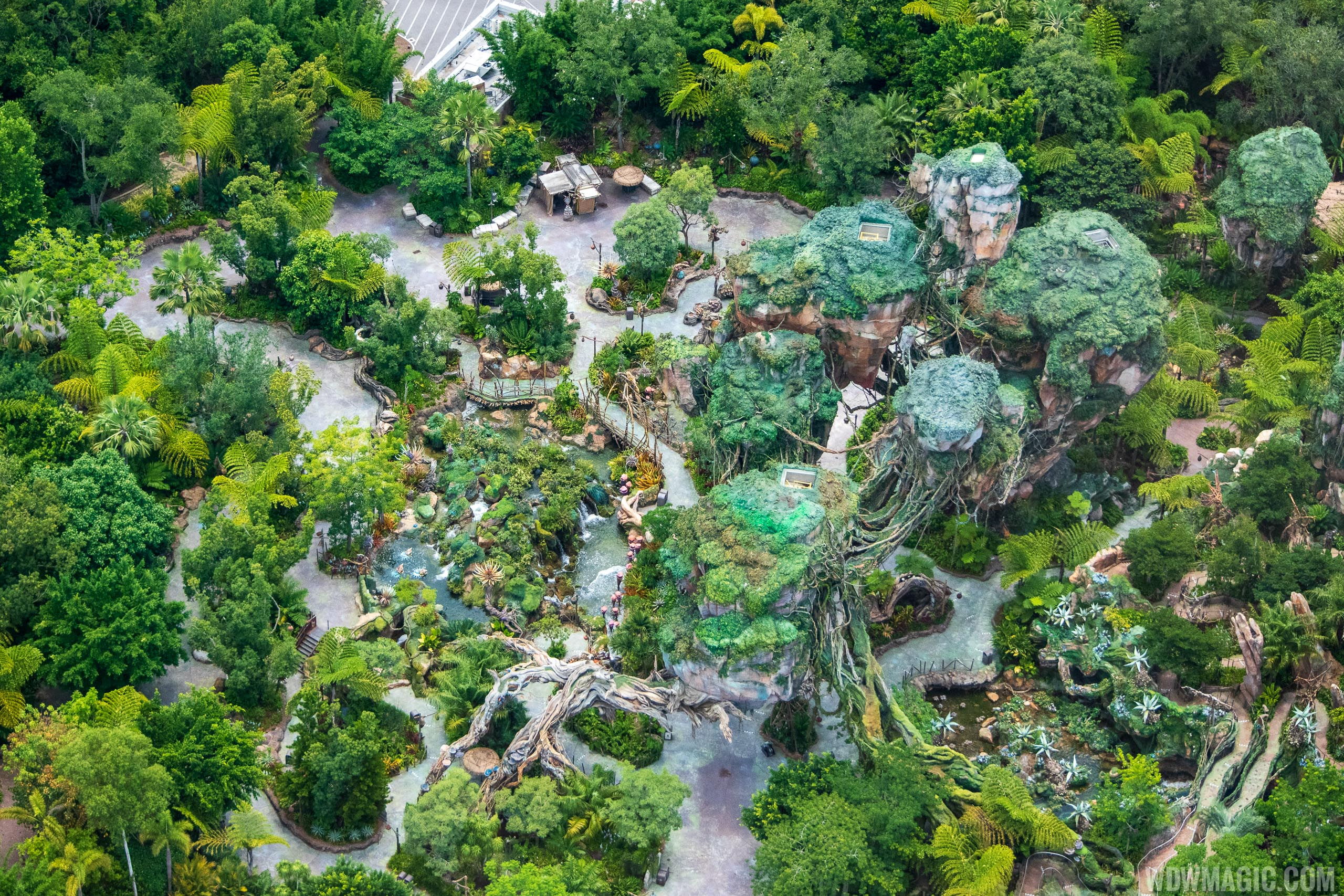Pandora - The World of Avatar aerial view June 2020