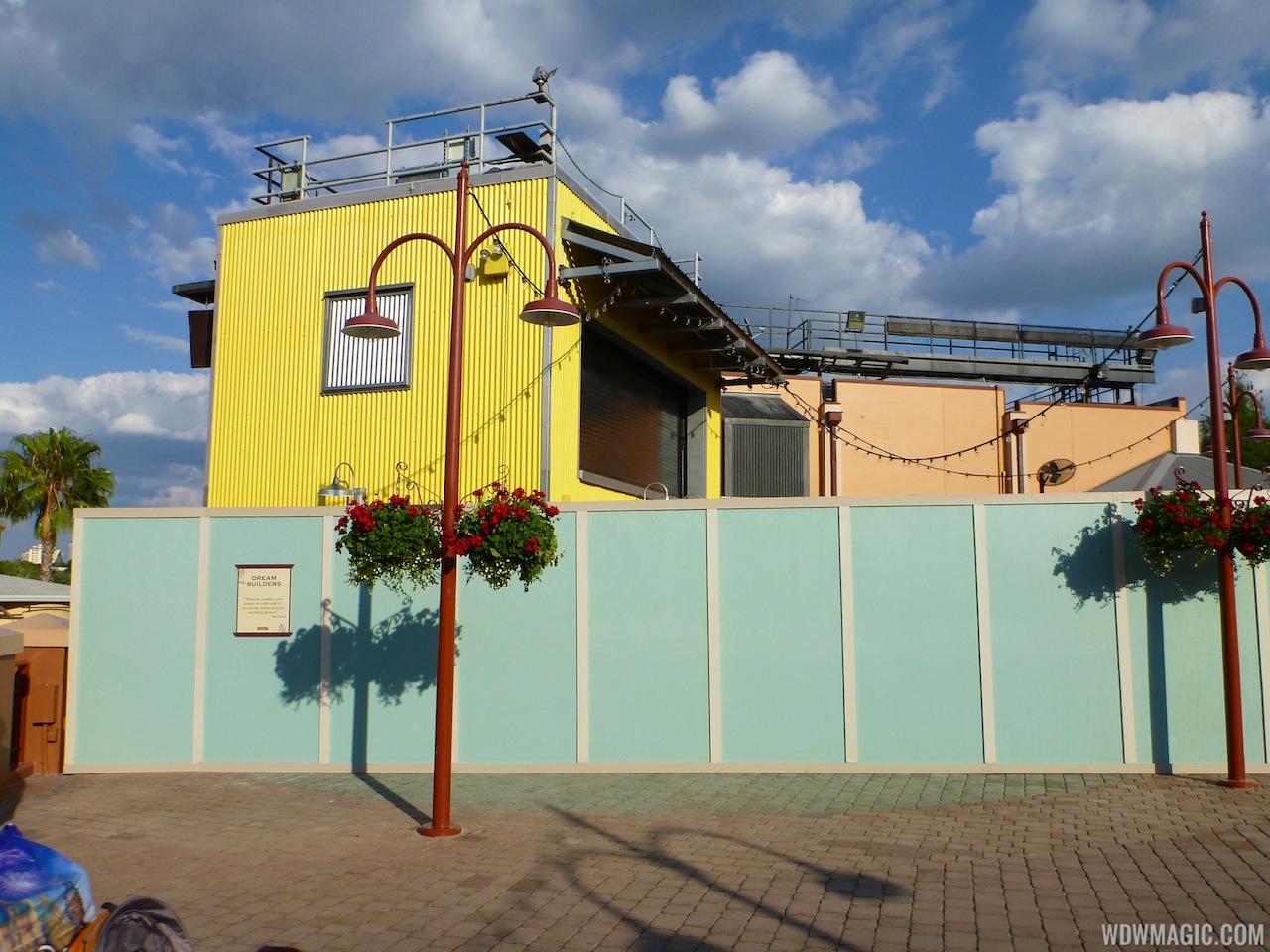 Construction walls up in former Pleasure Island area