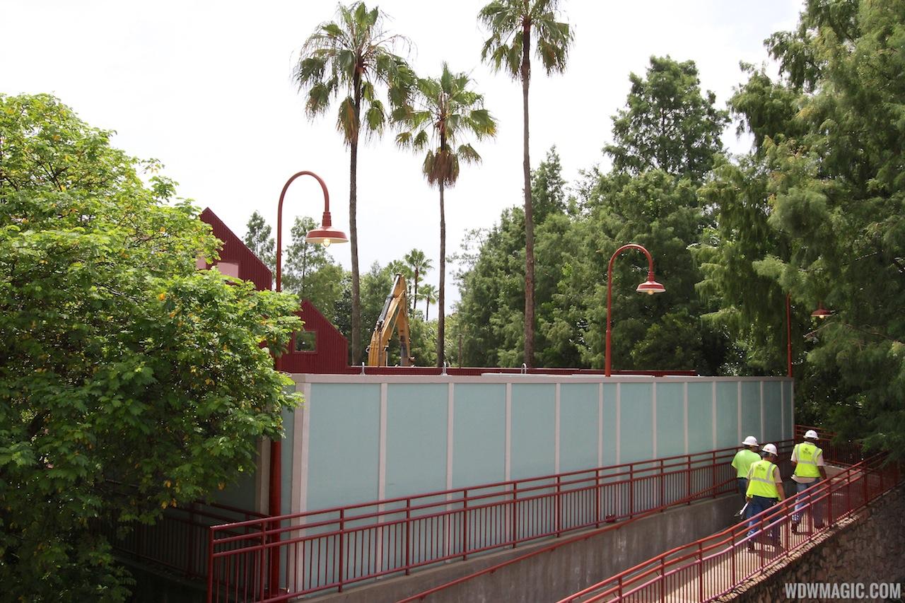Disney Springs construction site on Pleasure Island