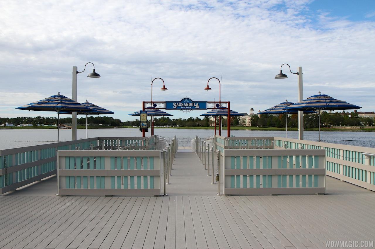 The Pleasure Island boat dock