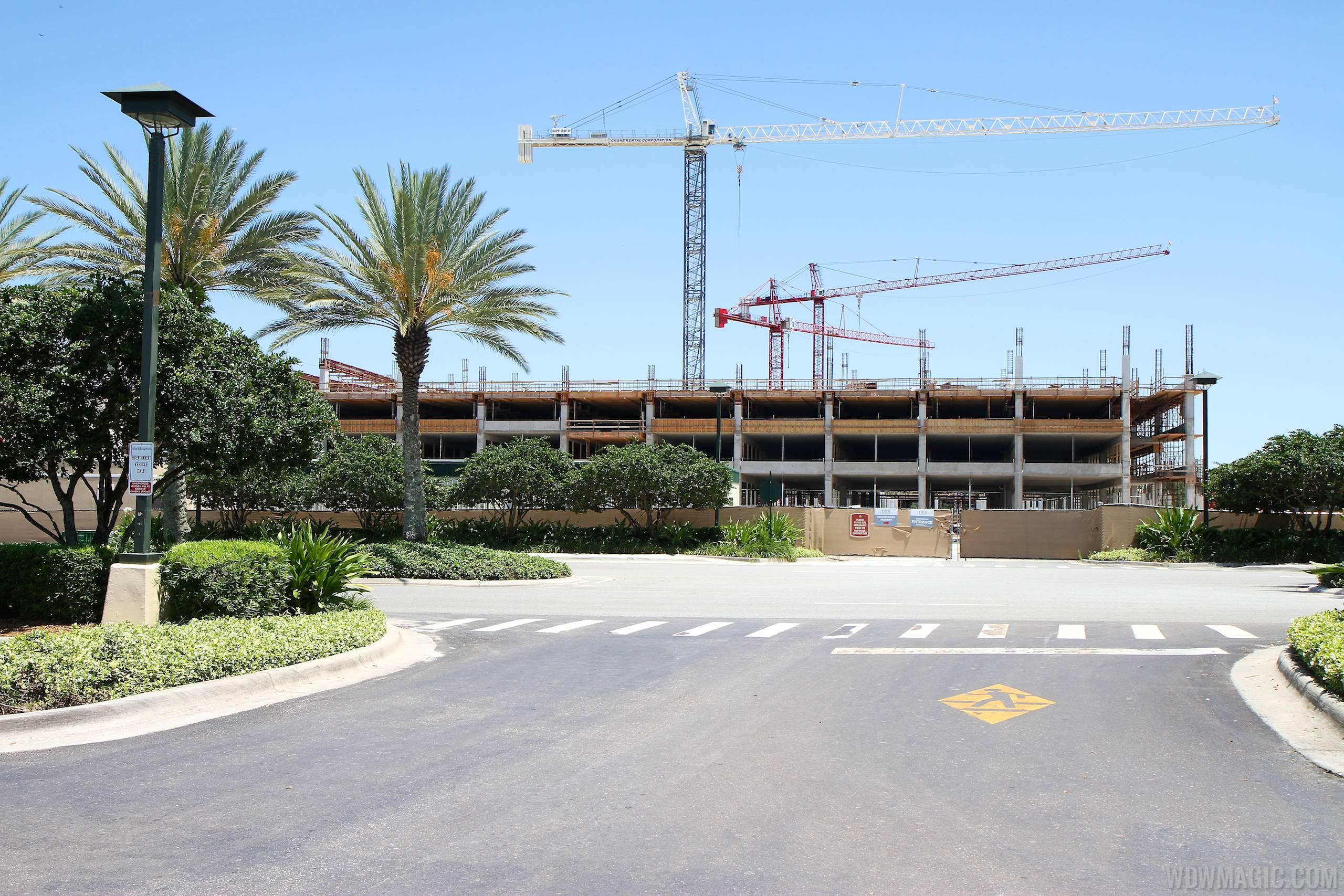 Disney Springs West Side parking garage construction