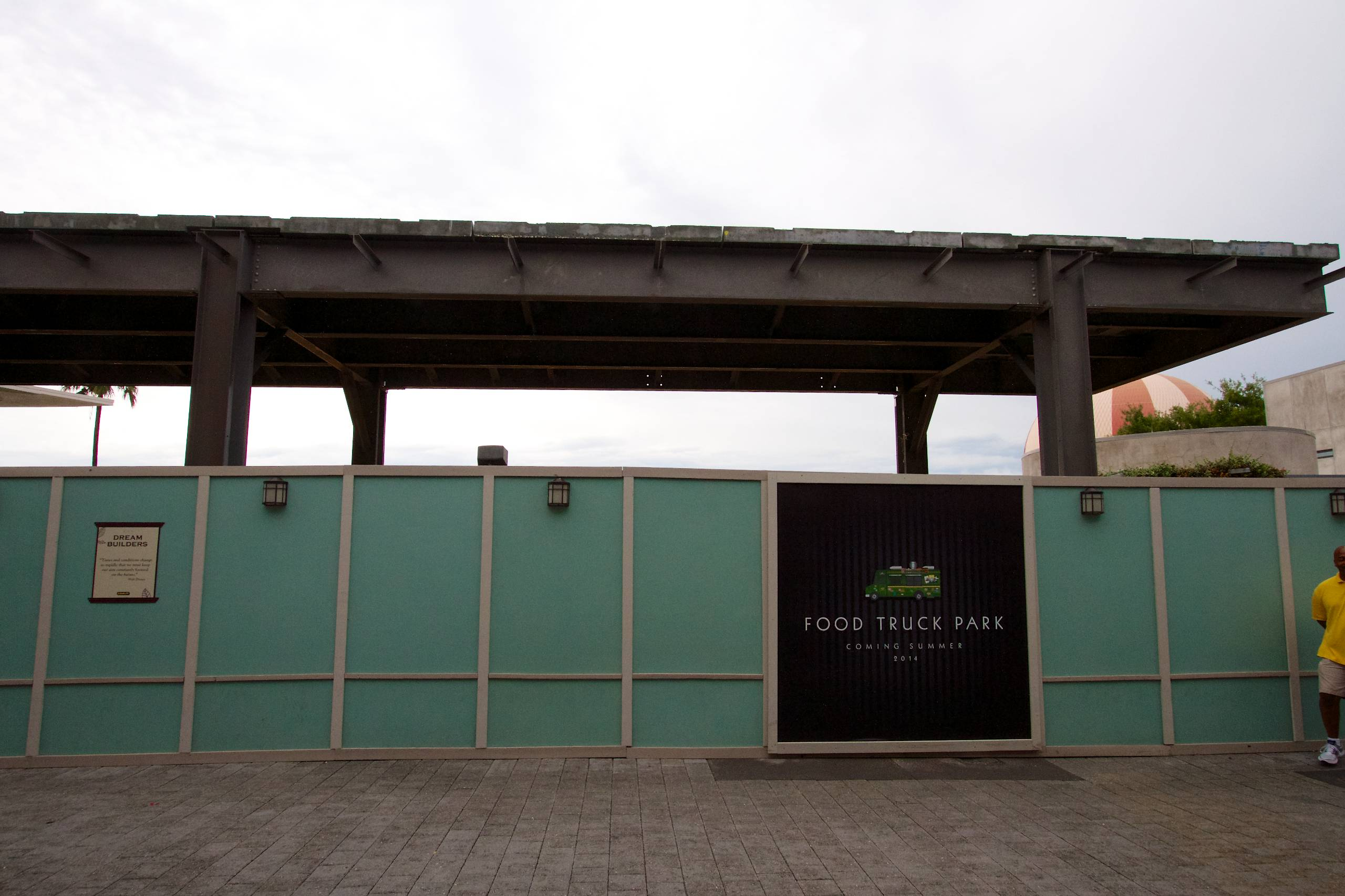 Food Truck Park elevated highline structure construction