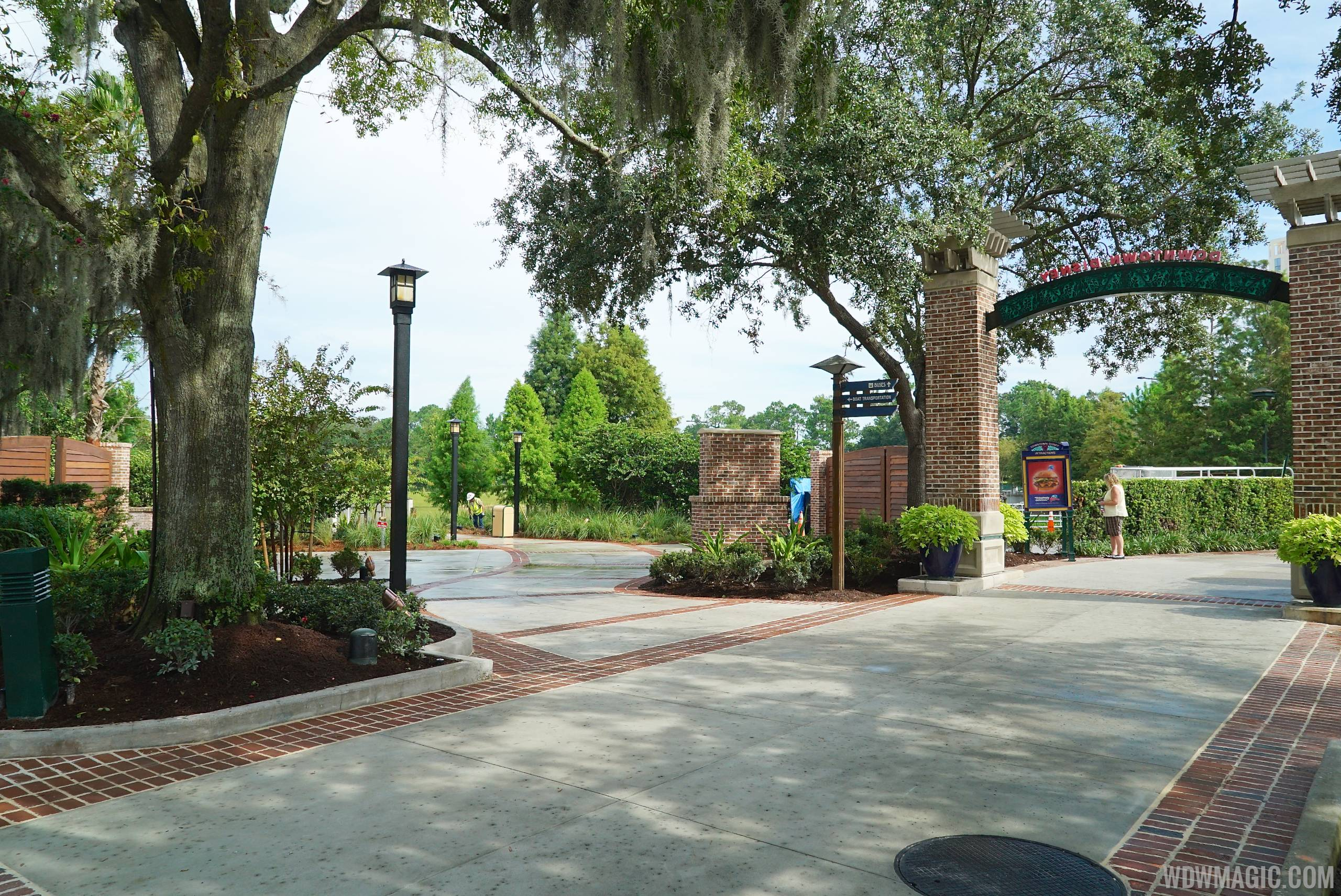 Entrance to the new Marketplace bridge and boat dock