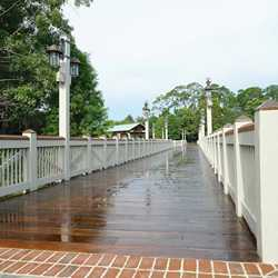Marketplace to Saratoga Springs Resort bridge and boat dock complete