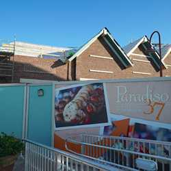 Disney Springs The Landing store fronts under construction
