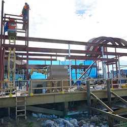 The Hangar steel work