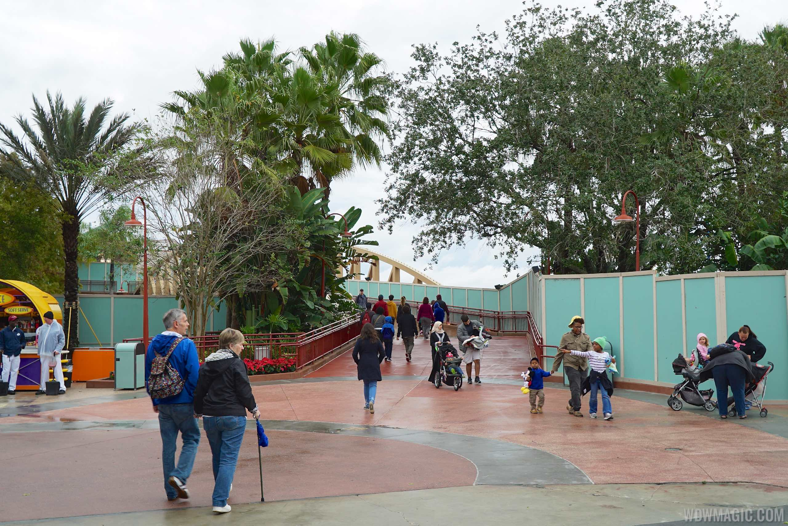 The Landing walkway opening morning