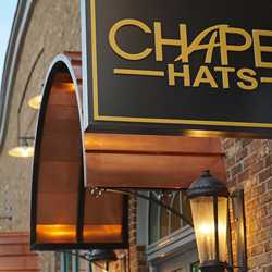 Signage up for Chapel Hats