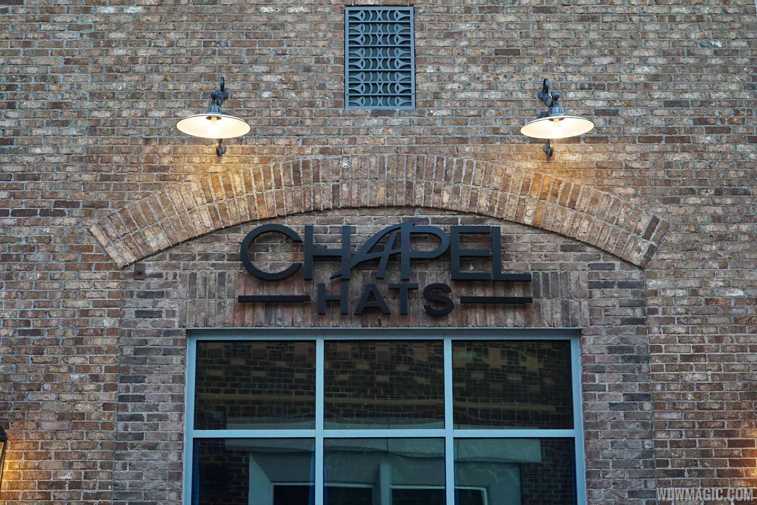Chapel Hats signage