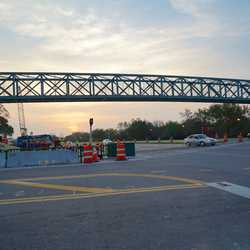 Buena Vista Drive pedestrian bridge installed
